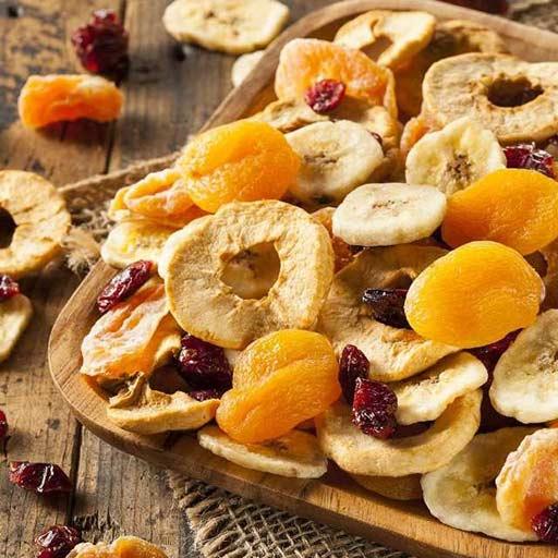fruta deshidratada